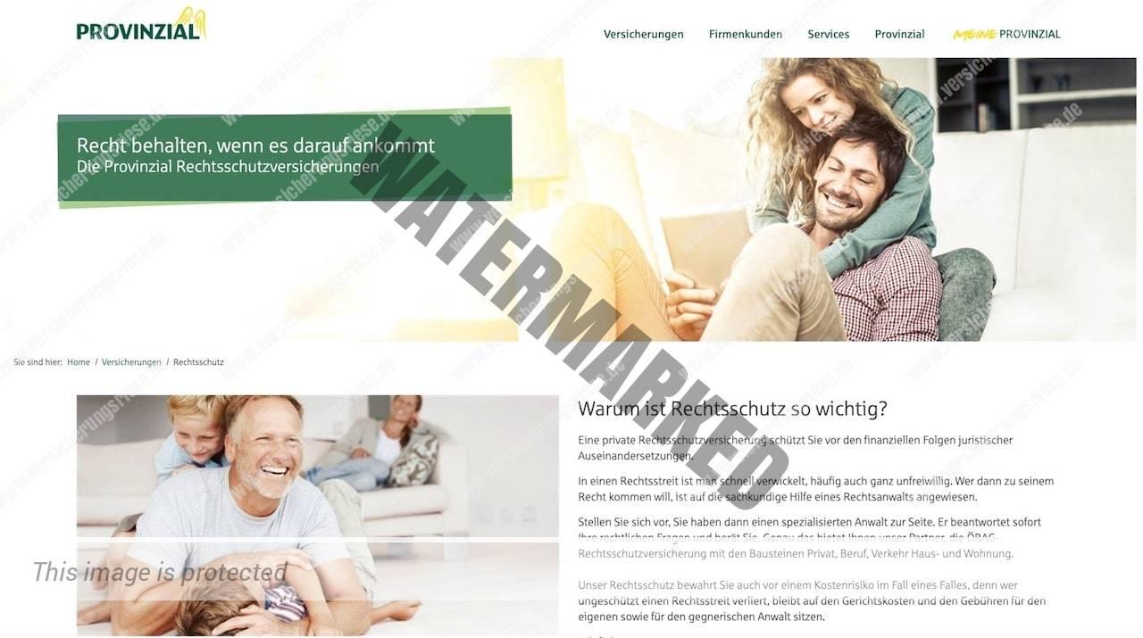 Webseite der LVM Rechtsschutzversicherung
