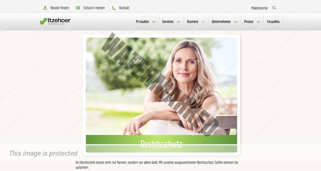Webseite der Itzehoer Rechtsschutzversicherung